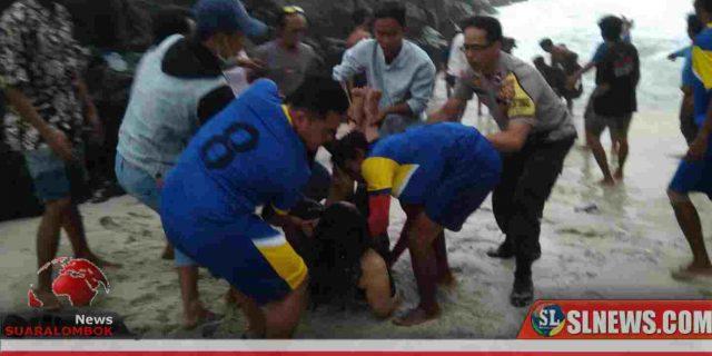 Dua Wisatawan Timur Tengah Tewas Tenggelam di Laut Selatan Lombok Tengah
