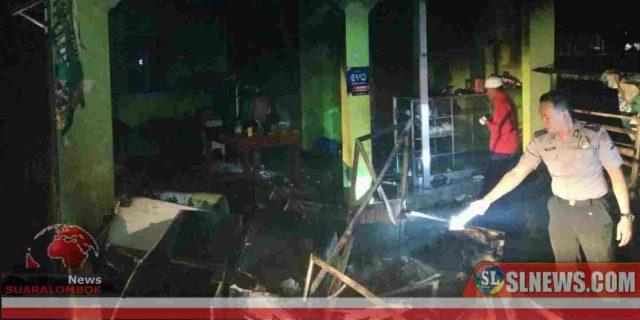 Diduga Gara – Gara Listrik Padam, Pemilik Kios di Lombok Tengah Nyaris Tewas Terpanggang