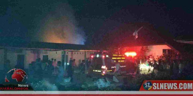 Diduga Gara – Gara Lilin, Rumah Sahpan Hangus Terbakar