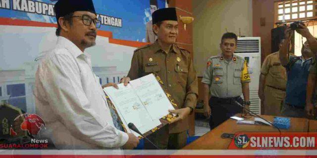 Dukung Penuh Pilkada 2020, Pemkab Lombok Tengah Tanda Tangani NPHD