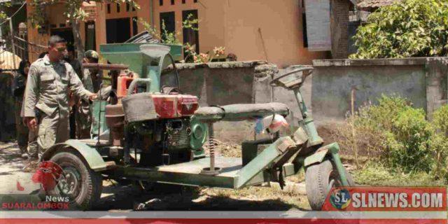 Sat Pol PP Lombok Tengah Amankan Huller Keliling