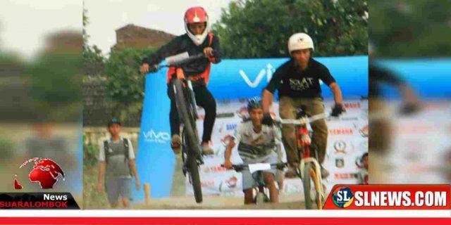 HUT Lombok Tengah ke – 74, Puluhan Bikers Berlaga di Ajang BMX dan MTB Cross