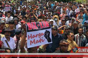 Tolak Nama BIZAM, Ribuan Masyarakat Kepung DPRD NTB