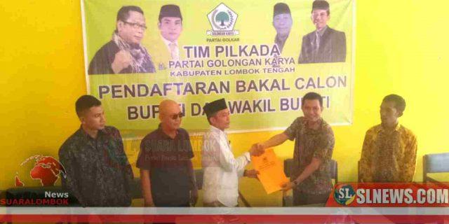 Pilkada Lombok Tengah 2020, Ketua Gerindra Daftar ke Golkar