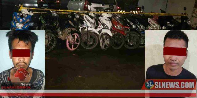 Ini Identitas 12 Unit Motor Hasil Curanmor Yang Disita Polres Lombok Tengah