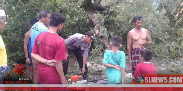 Siaga Bencana, Kapolsek Kuta Keliling Bawa Mesin Sinso