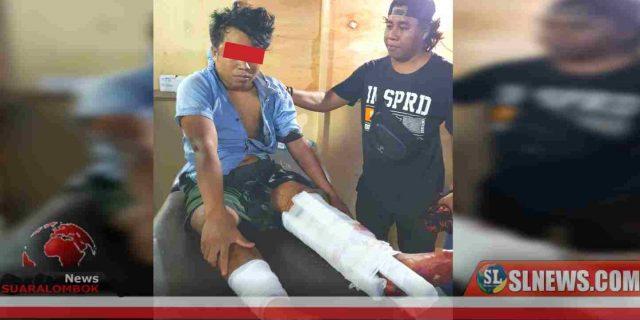 Lompat Dari Atas Kendaraan Pick Up, Gadil Ditembak Polisi