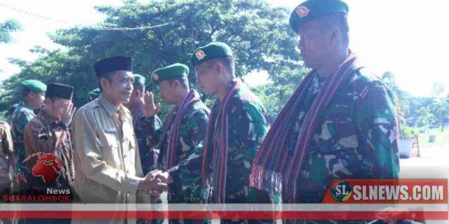 200 Prajurit Zeni TNI AD Tiba di Lombok Tengah