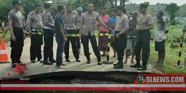 AKBP Budi Cek Jembatan Putus di Lombok Tengah