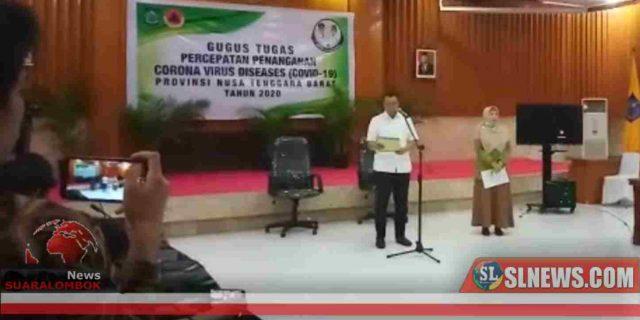Gubernur Zul Umumkan Satu Warga Lombok Positif Virus Corona