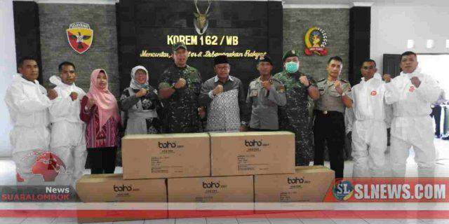 TNI Distribusikan Bantuan APD Untuk Penanganan Covid-19 di NTB Dari BNPB RI
