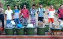 Cegah Covid-19. Masuk Desa Pandan Indah Wajib Cuci Tangan