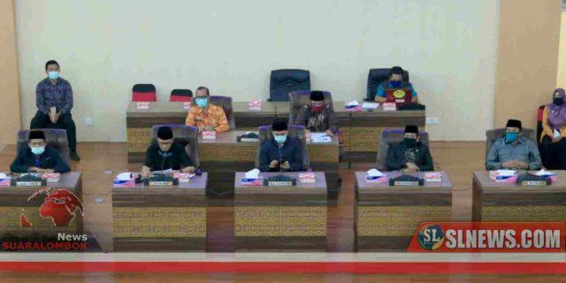 Ditengah Wabah Virus Corona, Dewan Lombok Tengah Tetap Gelar Rapat Paripurna Penyampaian LKPJ 2019