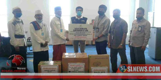Cegah Covid-19, Pemkab Lombok Tengah Terima APD Dari Satgas Bencana Nasional BUMN NTB