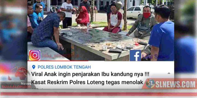 Alasan Kasat Reskrim Polres Lombok Tengah Tolak Laporan Anak Durhaka