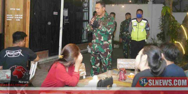 Putus Mata Rantai Covid-19, TNI-Polri di Kota Mataram Gelar Patroli Gabungan