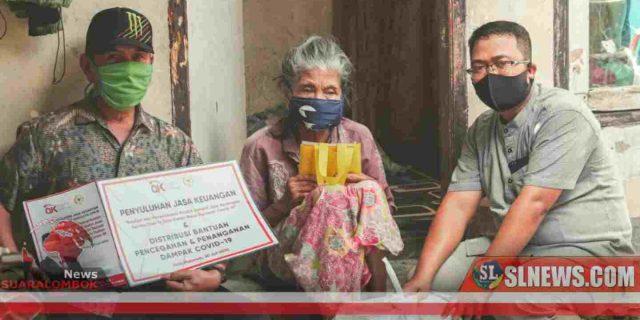 Disela – sela Penyuluhan Jasa Keuangan, HBK Bagi – Bagi Paket Sembako di Kota Mataram