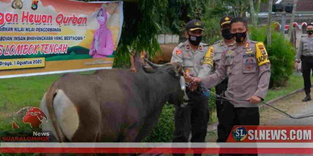 Polres Lombok Tengah Salurkan Daging Kurban Secara Door To Door