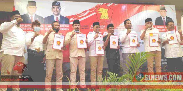 Tujuh Cakada di NTB Terima B.1-KWK dari Partai Gerindra