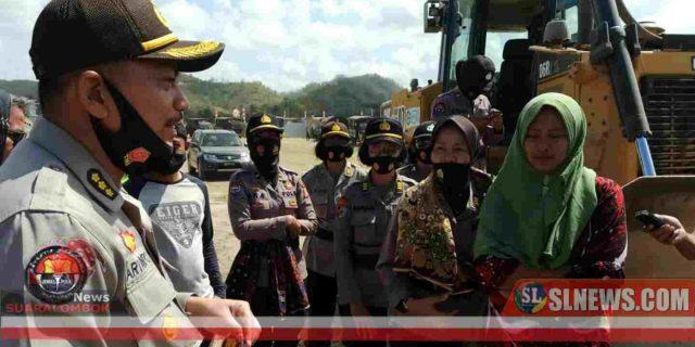 Setelah MengIkhlaskan Lahannya Dibangun Sirkuit motoGP Mandalika, Suhartini Ucapkan Terimakasih ke Polisi