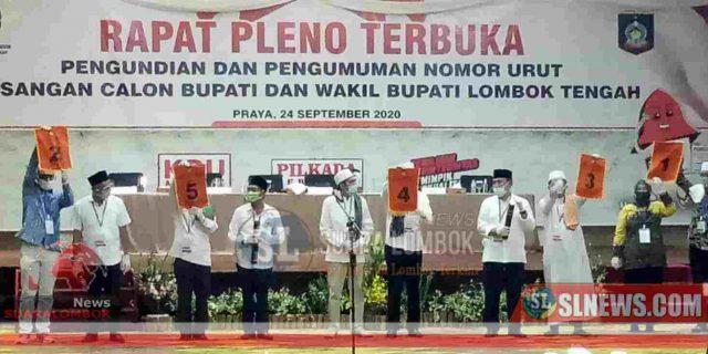 Ini Nomor Urut 5 Paslon Bupati-Wakil Bupati Lombok Tengah Tahun 2020
