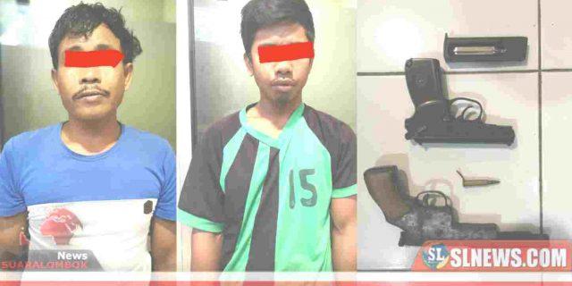 Bawa Pistol, Dua Orang Petani di Lombok Tengah Ditangkap Polisi