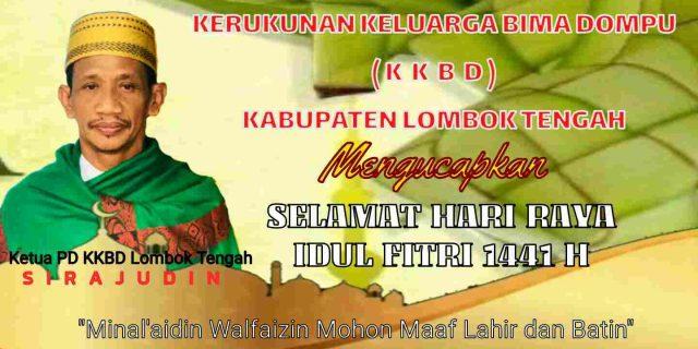 Kerukunan Keluarga Bima Dompu Lombok Tengah Mengucapkan Selamat Hari Raya Idul Fitri 1441 H