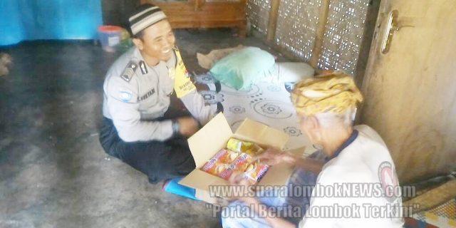 Bhabinkamtibmas Desa Prabu Bantu Warga Miskin
