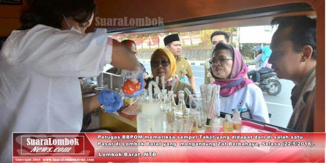 Di Lombok Barat, BPOM Temukan Takjil Mengandung Boraks