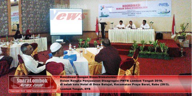 BPS Gelar Sosialisasi Penyusunan Disagregasi PMTB Lombok Tengah 2018