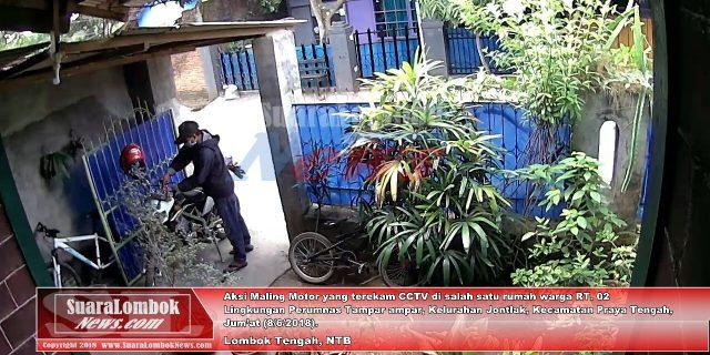 Terekam CCTV, Begini Aksi Pencuri Motor di Lingkungan Perumnas Tampar ampar