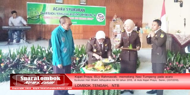Kejari Lombok Tengah Gelar Upacara Peringatan Hari Bhakti Adhyaksa ke 58