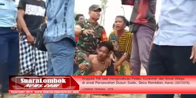 TNI Selamatkan Nyawa Pelaku Curanmor Dari Amuk Warga