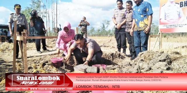 Sejahterakan Anggota, Polres Lombok Tengah Bangun Perumahan Murah