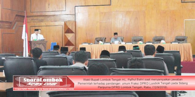 Ini Jawaban Pemkab. Lombok Tengah Terhadap Pandangan Umum Fraksi DPR