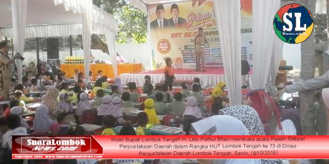 Wabup Lombok Tengah Buka Pekan Gebyar Perpustakaan Daerah 2018