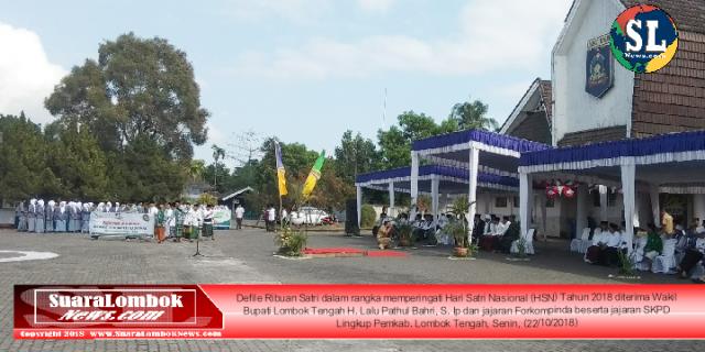 Defile HSN 2018, Diikuti Ribuan Santri se – Lombok Tengah