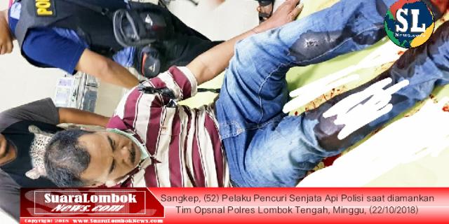 Pencuri Pistol Polisi Dihadiahi Timah Panas