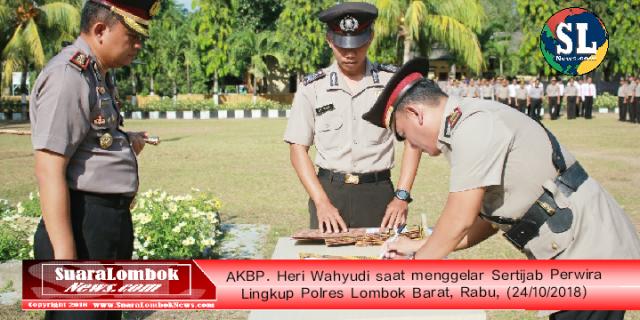 Ini Pesan AKBP. Heri Wahyudi, Saat Sertijab Perwira Di Polres Lombok Barat