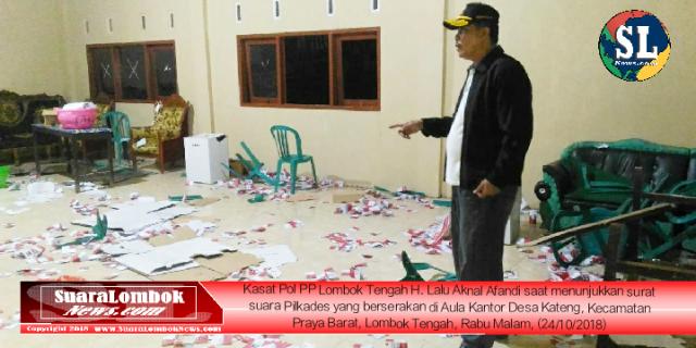 Pilkades Kateng Berlangsung Brutal, Surat Suara Pilkades Berserakan di Kantor Desa