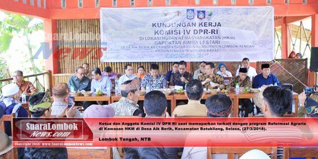 Ini Tujuan Kunker DPR – RI ke Kawasan HKM  Lombok Tengah