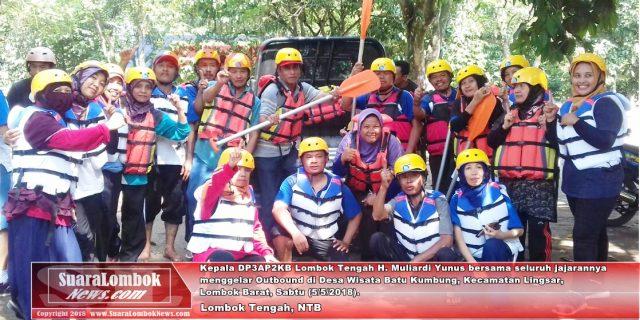 """Bentuk Teamwork Tangguh, DP3AP2KB Lombok Tengah  Gelar  """"Outbond"""""""
