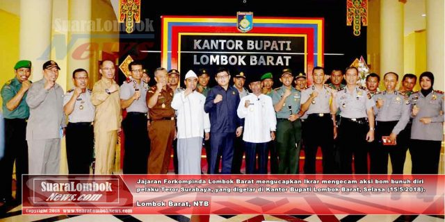 Forkompinda Lombok Barat, Kutuk Aksi Teror Bom Surabaya