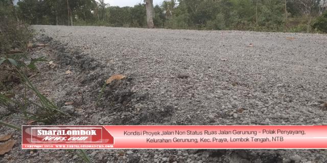 Ini Fakta di Lapangan Hasil Pengerjaan Proyek Jalan Non Status Rp.7 Mdi Lombok Tengah