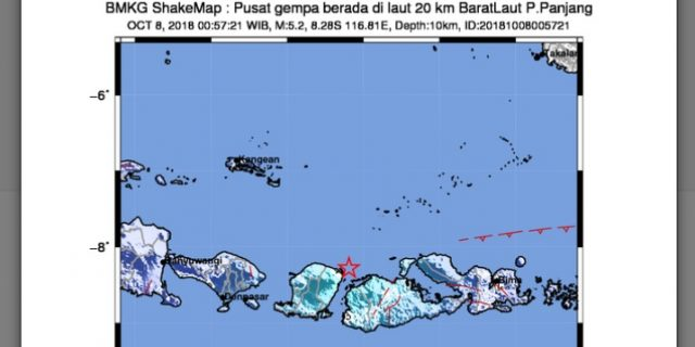 Pulau Panjang Sumbawa NTB, Diguncang Gempa Magnitudo 5,2