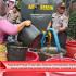 Truk Tangki Air Bersih Polisi Diserbu Warga