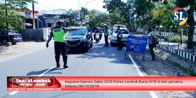 Ini 7 Jenis Pelanggaran Yang Jadi Prioritas Polres Lombok Barat  Pada Operasi Zebra 2018