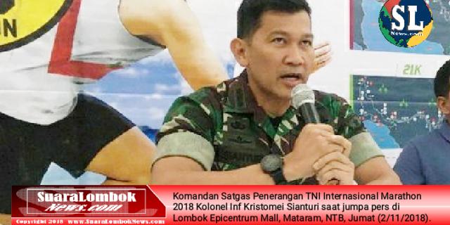 Pulihkan Pariwisata Pasca Gempa, TNI Gelar Internasional Marathon di KEK Mandalika Kuta Lombok