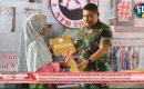Warga Korban Gempa di Lombok Utara, Terima  Bantuan 10 unit Risha Dari TNI