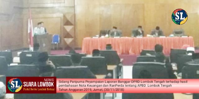 Dewan Sahkan APBD Lombok Tengah 2019